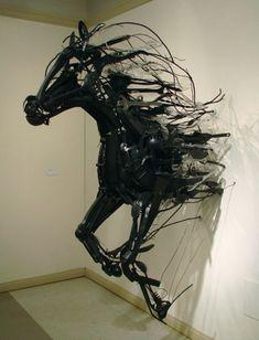 recycled plastic art