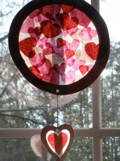 february classroom window decor