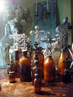The Vintage Cross Bottle Collection of Greyfreth: Amber