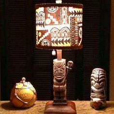 SO Cool Tiki Lamp and items!! Tiki Décor, Vintage Tiki, Tiki Bar, Tiki Mug, Rare Tiki!