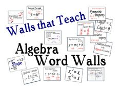 Over 110  Concepts and Formulas from Algebra 1 and 2. Download the preview to see all the words.   Includes a clickable table of content for easier...