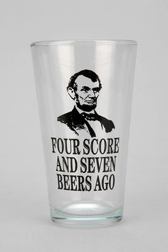 Lincoln Pint Glass #urbanoutfitters