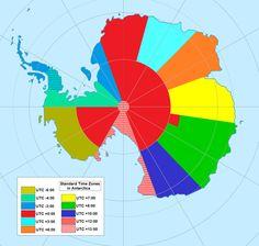 Time zones in Antarctica.