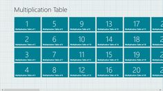 Multiplication Tables // helps you practice multiplication sets by yourself or together with other people!