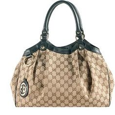 Great prices on used authentic luxury bags... Gucci GG Canvas Sukey Medium Tote