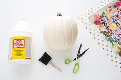 How to Make the Prettiest Pumpkins Ever with Mod Podge for Halloween!