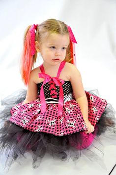 Monster High tutu dress with Apron 2pc set by by littlebunnytutus, $49.99