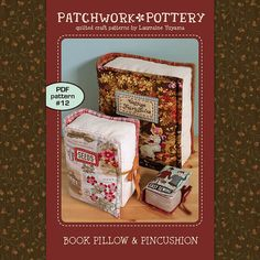 Book Pillow & Pincushion by PatchworkPottery on Etsy, $12.00
