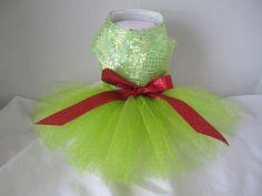 Dog Tutu XS  Green with glitter  By Nina's by NinasCoutureCloset, $25.00