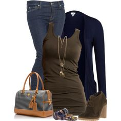 Navy and Brown, created by daiscat on Polyvore