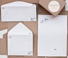 papelidades: cartas y sobres · un proyecto y un destino // stationery · a project and a destiny