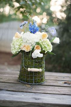 Flowers: Outdoor Spring Wedding with Country Chic Charm   OneWed
