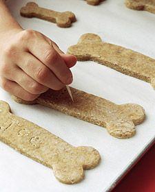 Homemade dog biscuits by Martha Stewart