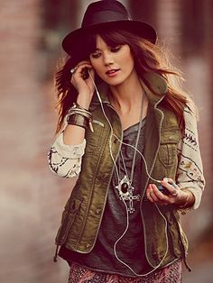 Follow Your Heart Cargo Jacket -- super cool statement jacket, toss over anything and look effortlessly cool