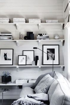 Shelving and white p