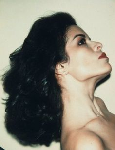 Bianca Jagger, Polaroid by Andy Warhol  Also, who I am named after :)