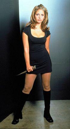 Sarah Michelle Gellar as Buffy.