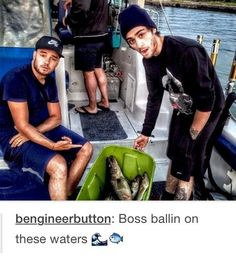 The fact that they go fishing together.... ❤️