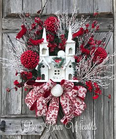 Church Wreath Winter