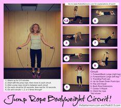Quick Jump Rope Bodyweight Circuit