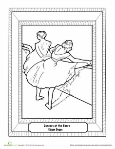 Worksheets: Edgar Degas - Dancers at the Barre