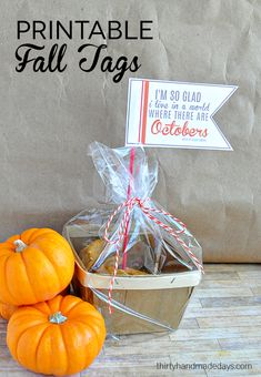 Simple and cute printable fall tags