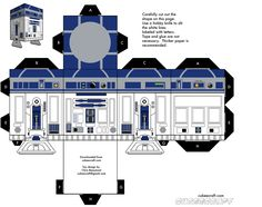 Build Your Own Cubecraft R2-D2 [Star Wars]