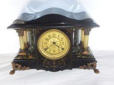 Antique Victorian Mantel Clock, Seth Thomas Adamantine, Shasta Style  c.1906