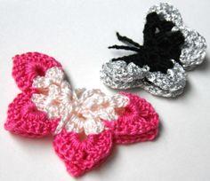butterfly crochet collar, hair clips, thread butterfli, butterflies, magnets, hair bows, crochet butterfli, butterfli pattern, crochet patterns