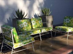 Gorgeous Vintage Patio Sectional - 4 pcs $750