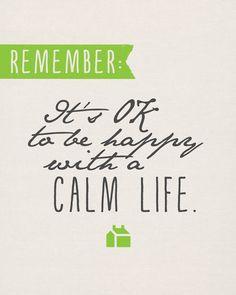 Sunday Encouragement: A Calm Life {3.9.14} - Landee See Landee Do