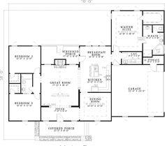 Morelle Rustic Craftsman Home (single story floor plan).