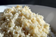 Cauliflower rice (add lemon zest)