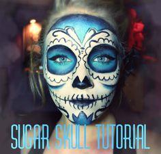 ✿ ☠ Sugar Skull | Halloween Makeup Tutorial ☠ ✿