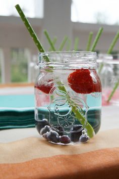 Fruit infused water. Looks good and tastes great.