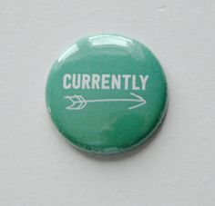 Currently Arrow Green Flair Button by Two Peas @2peasinabucket