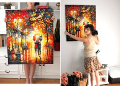One of Leonid Afremov' paintings has finally arrived))