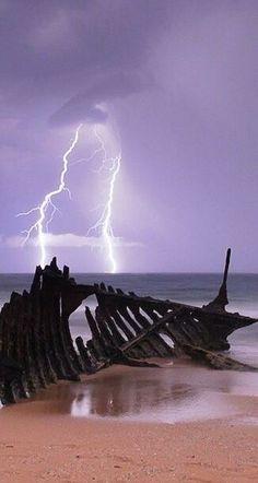 Lightning at the beach