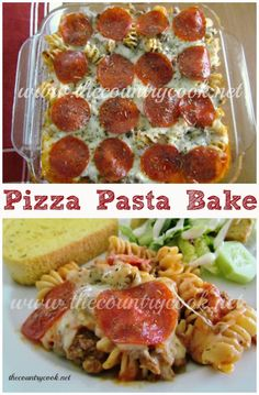 The Country Cook: Pizza Pasta Bake