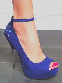 Purple Cut-Out Heel Stilettos <3