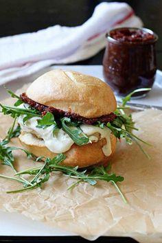 Grilled Chicken, Mozzarella, and Tomato Jam Sandwich