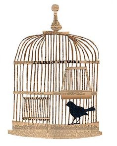 bird in a cage paste piece