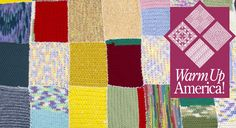 Warm Up America - create squares of yarn to be combined into a blanket for charity.  From Michaels blog.