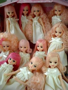 pink haired dolls