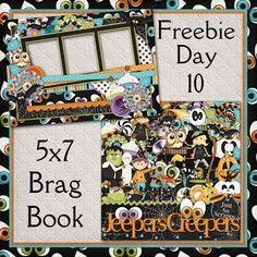 Scrapbooking TammyTags -- TT - Designer - Just So Scrappy, TT - Item - Quick Page, TT - Style - Brag Book, TT - Theme - Halloween