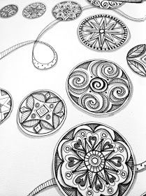 visual blessings: Doodling Circles in Black, White, and Grey