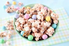 Salted Caramel Easter Popcorn from Brit+Co.