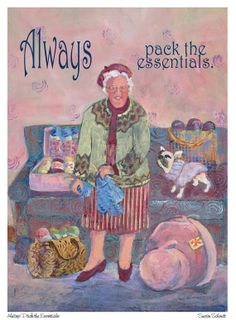 art print for knitters who travel