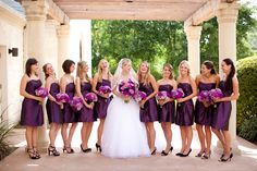 I love this color purple and the great flowers!! Perfect combo!
