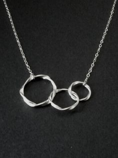 Eternity love Triple Circle Necklace